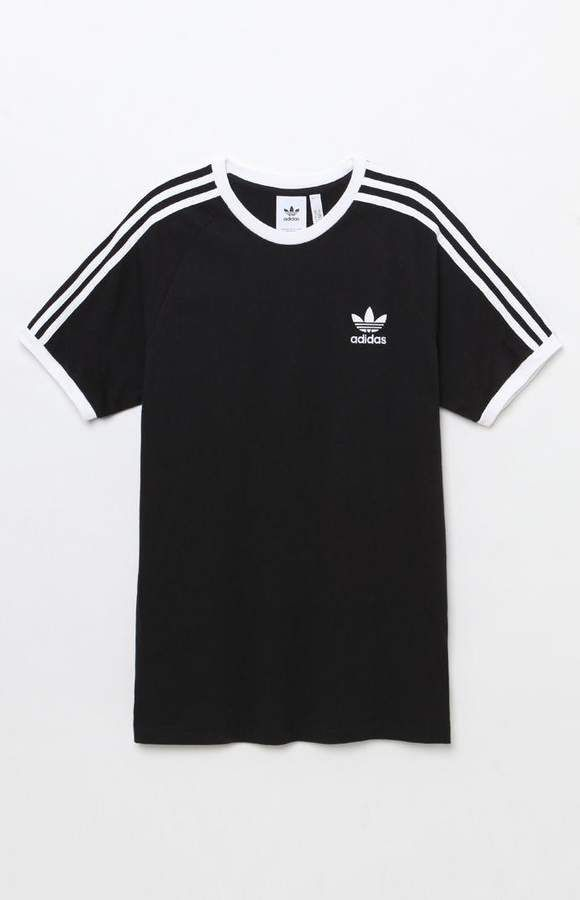 19e02122d96 adidas 3-Stripes Black Ringer T-Shirt in 2019 | Clothes | Shirts ...
