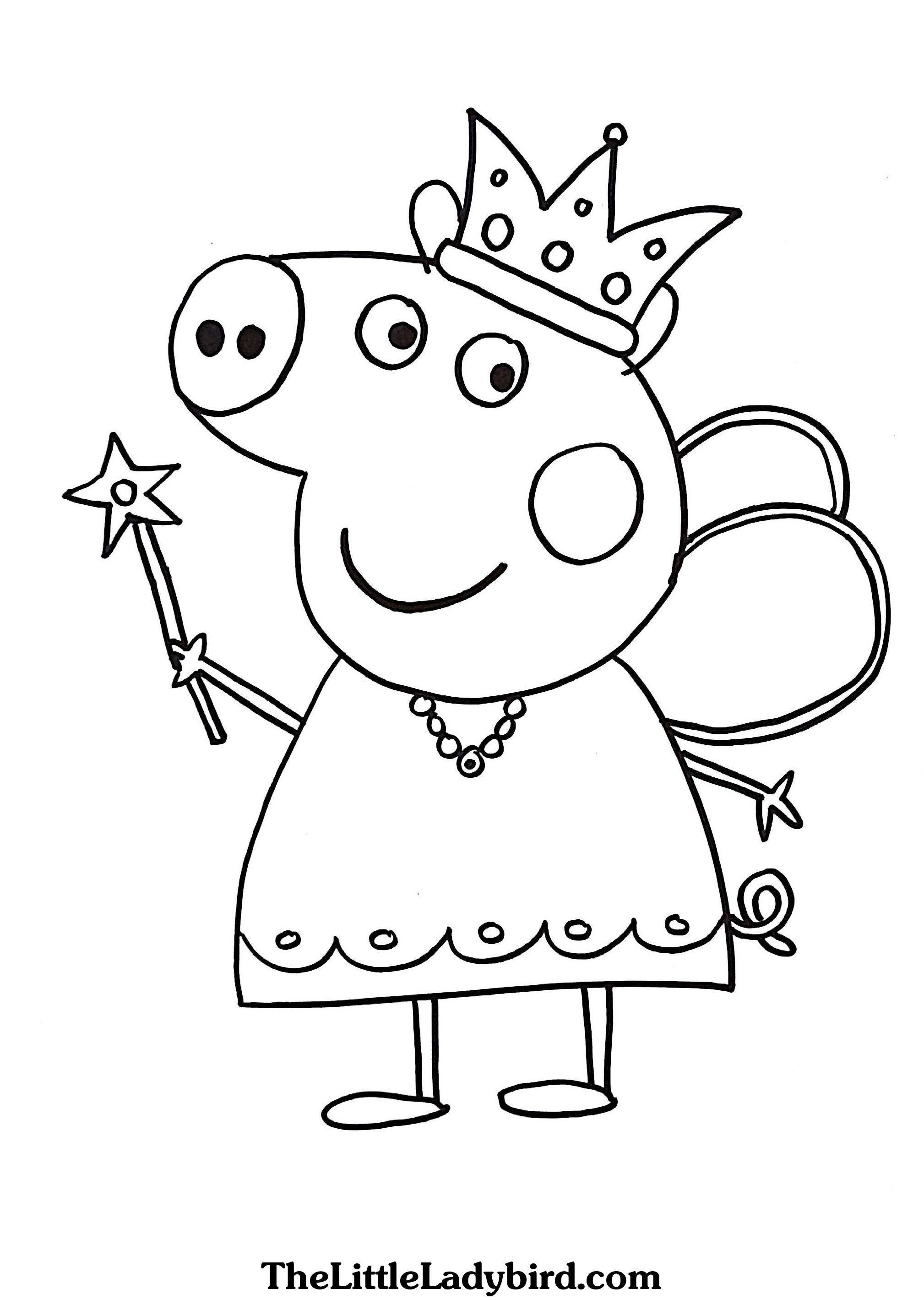 Peppa Pig Queen Coloring Pages In 2020 Peppa Pig Coloring Pages