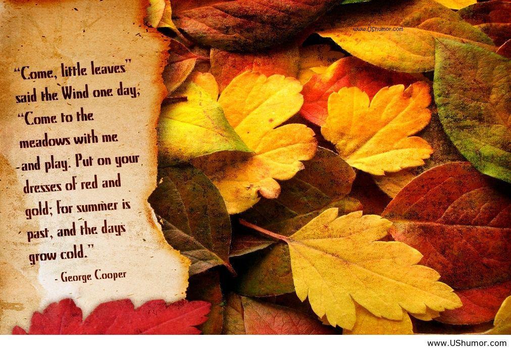 Beautiful Autumn Poem Card Wallpaper FREE Hd
