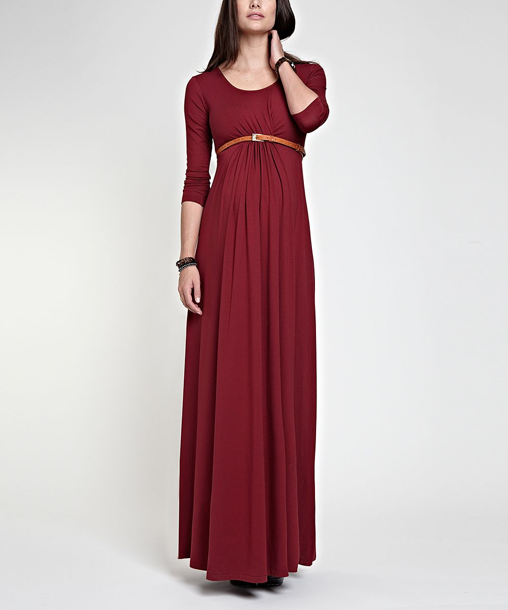 Wine grace maternity maxi dress wow an attractive formal wine grace maternity maxi dress wow an attractive formal modest maternity dress ombrellifo Images
