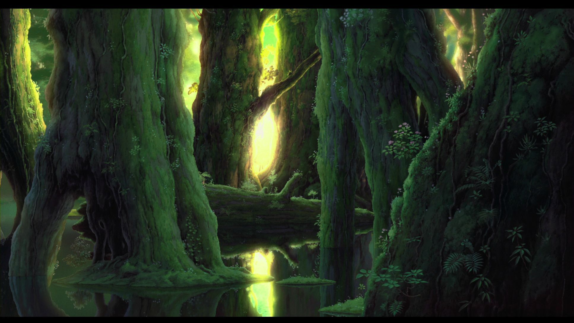 Princess Mononoke Hd Wallpaper Dump 1920x1080 More In Comments Wallpapers Princess Mononoke Anime Scenery Background Images