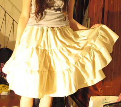 Tutorial on making cotton petticoat