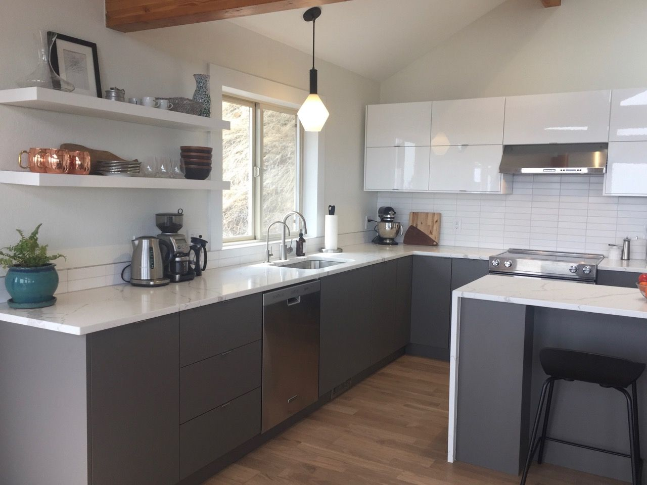 Create A Modern Two Tone Look For Your Ikea Cabinets In 2020 Ikea Cabinets Ikea Home Interior Design