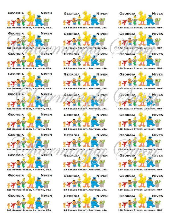 Sesame Street Return Address Labels- Lineup $6