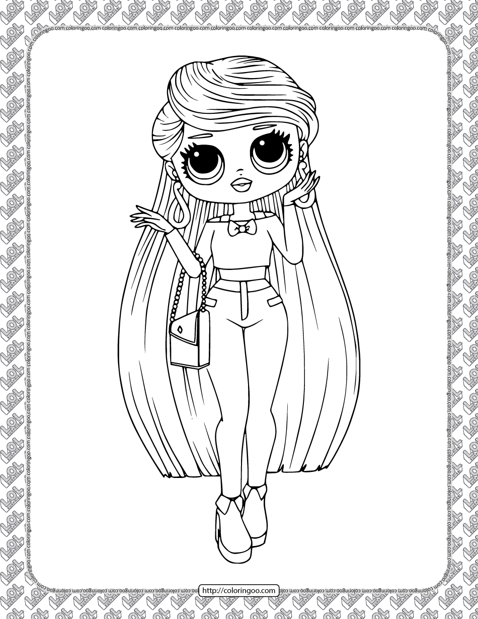 Printable Lol Surprise Lara B R Coloring Page High Quality Free Printable Pdf Coloring Drawing Paintin In 2021 Puppy Coloring Pages Doll Drawing Cute Coloring Pages