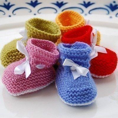 Easy Baby Booties Pdf Knitting Pattern 13 36 By Studiokarmapattern
