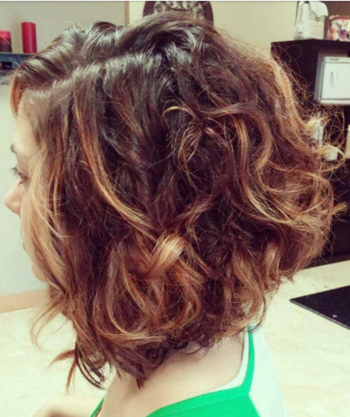 Curly Angled Bob Past Hair Curly Angled Bobs Wavy Bob Hairstyles Angled Bob Hairstyles