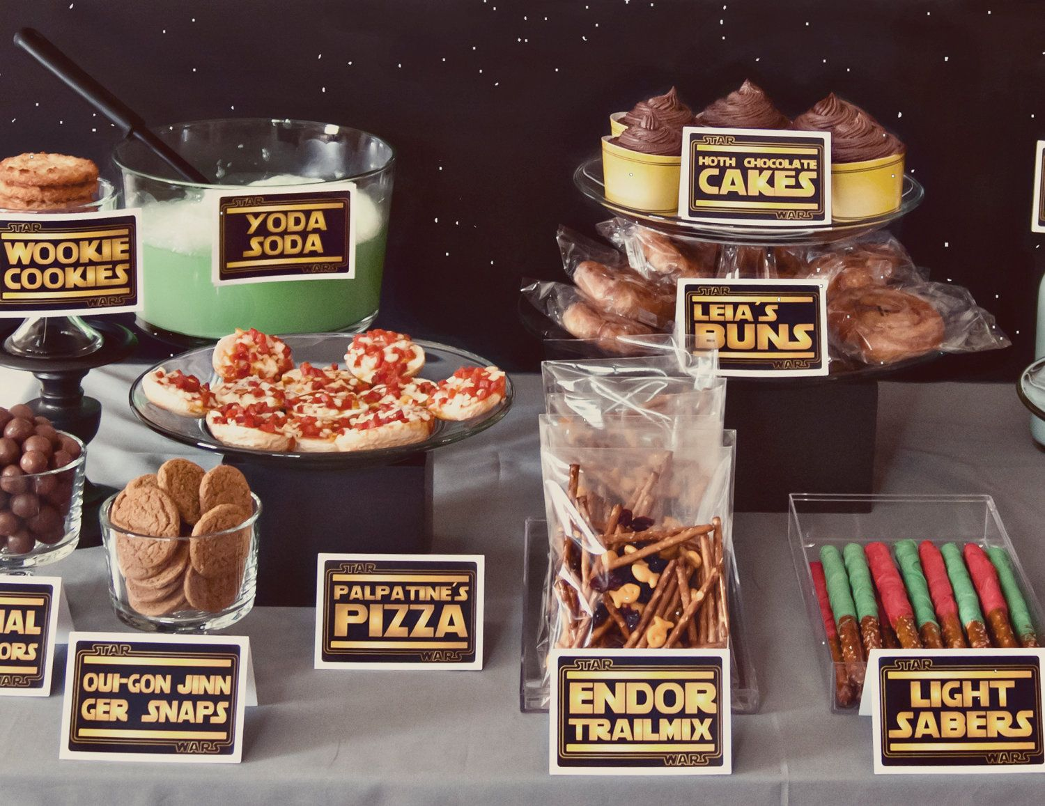 Star Wars Themed Food Labels