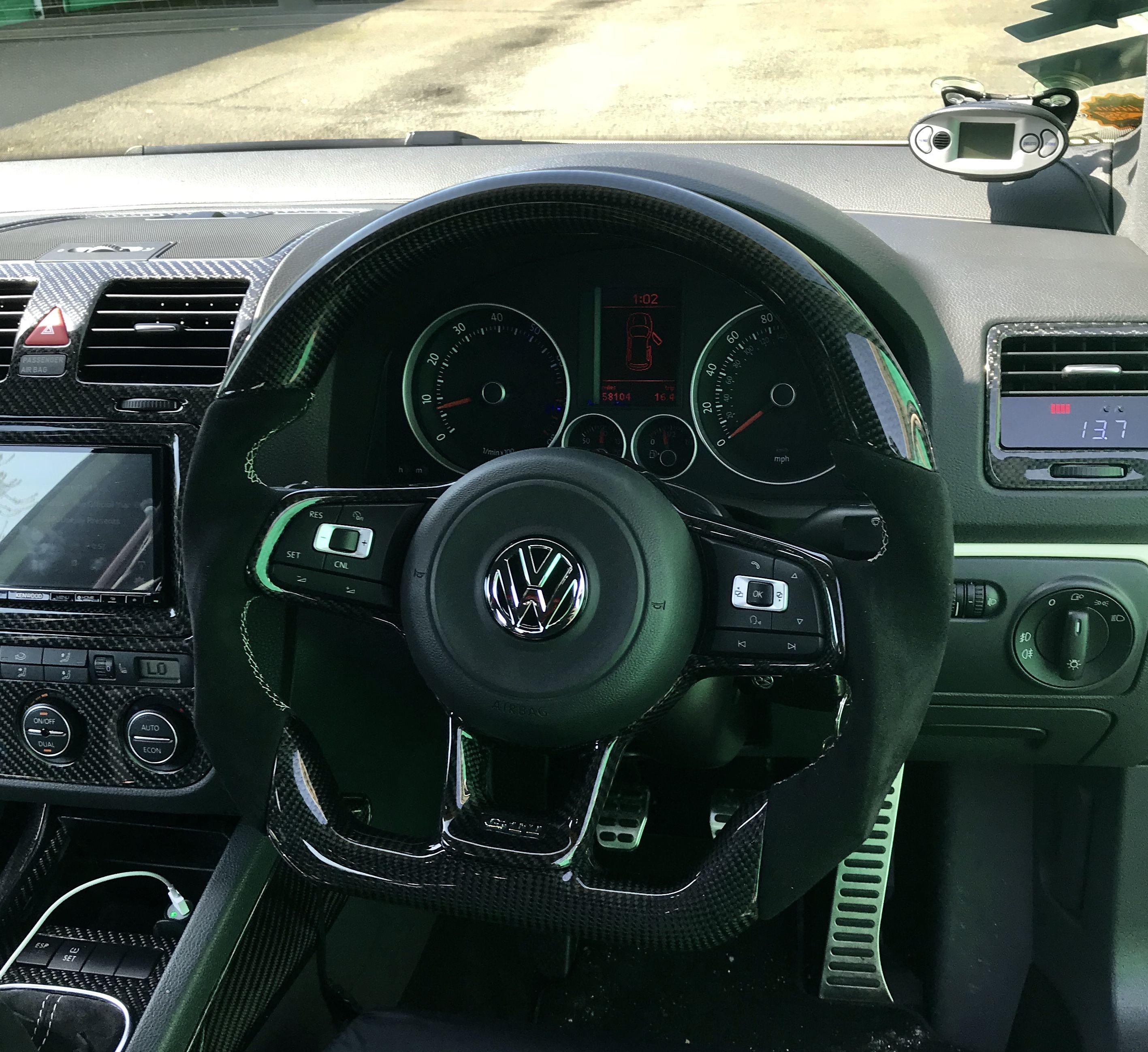 Vw Golf Gti Custom Steering Wheel Full Reshape Carbon Top