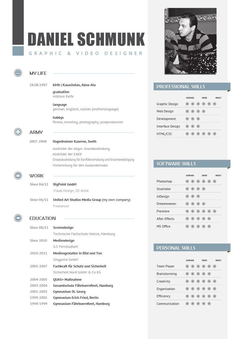 Bewerbung Personal Branding Indesign Cover Design