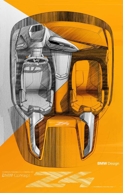 BMW Concept Z4, design sketches interior. (08/2017)