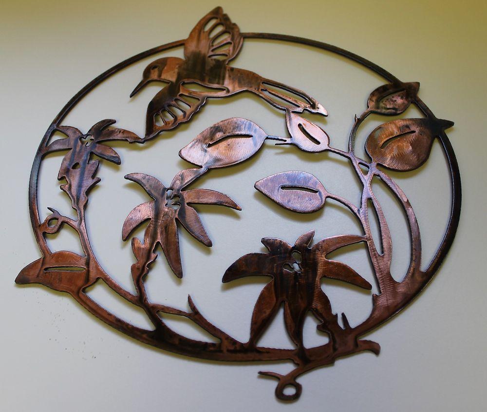 humming bird metal wall art decor copper bronze plated on wall art decor id=32557