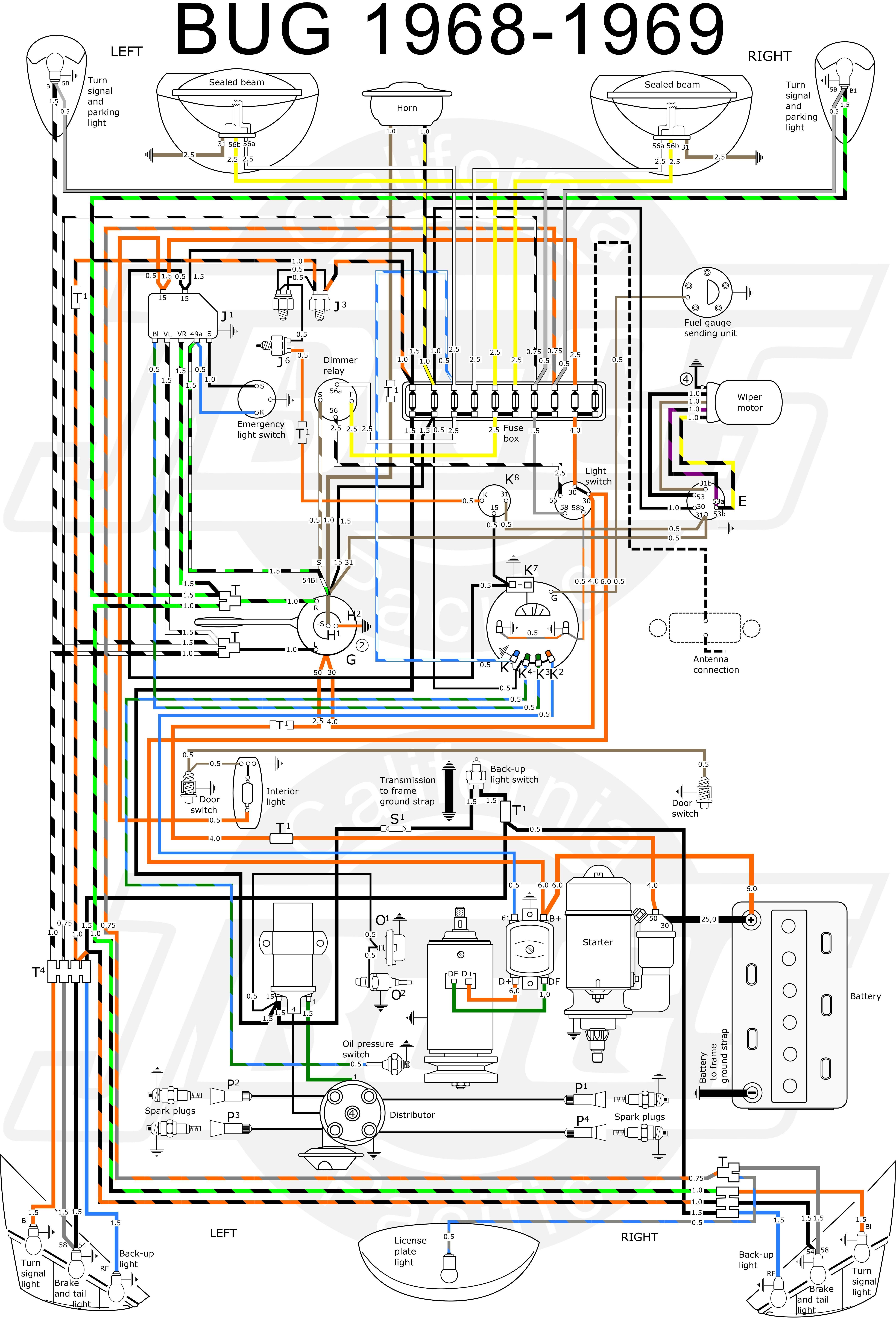 [FPWZ_2684]  Elegant 1968 Vw Beetle Wiring Diagram in 2020 | Vw beetles, Beetle, Diagram | Vw Beetle Wiring Diagram Light |  | Pinterest
