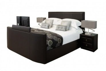 Star Collection New York 6ft Superking Leather Tv Bed In