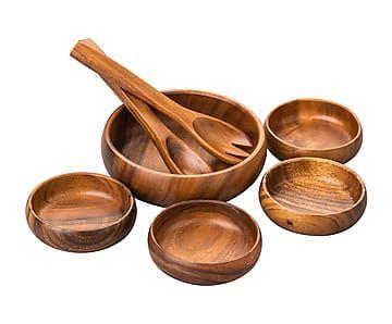 madera de acacia Premier Housewares Servidores de ensalada