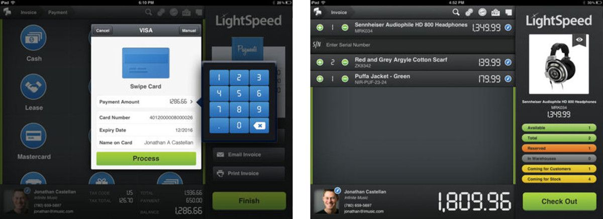 Best point of sale apps for iPhone and iPad LightSpeed Retail - point of sale resume
