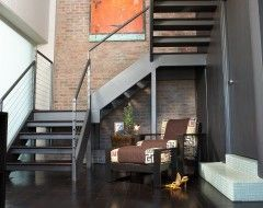 Best Metal Staircase With Images Industrial Loft Design 640 x 480