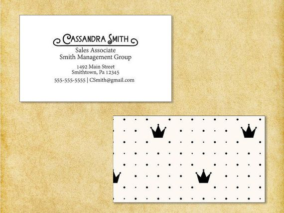 Business Cards Crown Thick Paper Standard Business Card Size