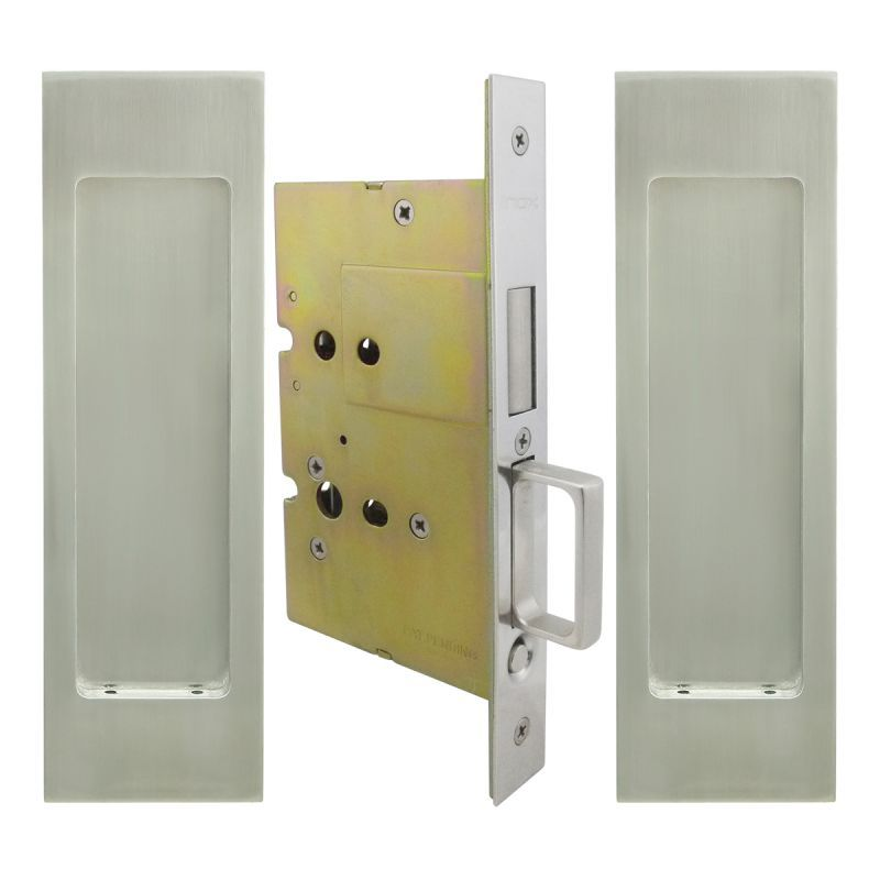 INOX FH27PD8115 FH27 Series Passage Pocket Door Lock With Dust Proof Strike  Satin Stainless Steel