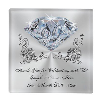 Inexpensive Diamond Wedding Anniversary Gift Ideas Glass Coaster Zazzle Com Diamond Wedding Anniversary Gifts 60th Wedding Anniversary Gifts Wedding Anniversary Gifts