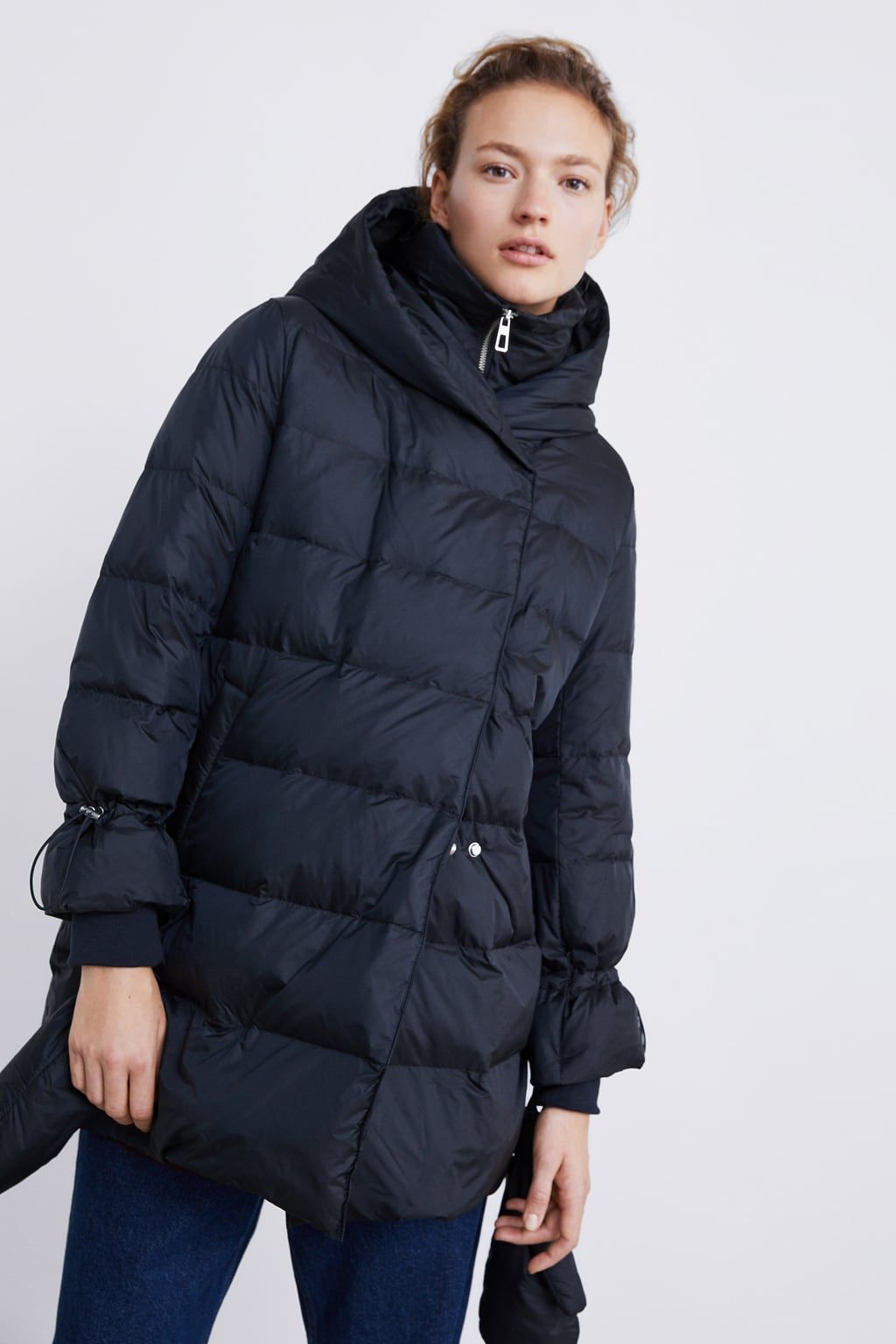 a008e8b3 Image 2 of DOWN COAT WITH WRAP COLLAR from Zara | 2018 Fall / Winter ...
