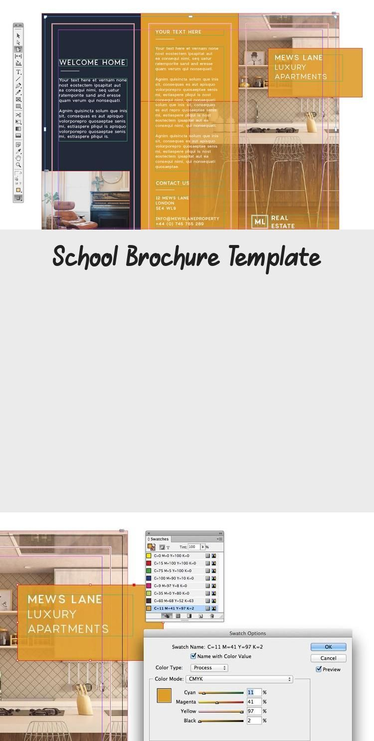 Free School Brochure Template - Tri-fold Colorful Brochure Template for InDesign...