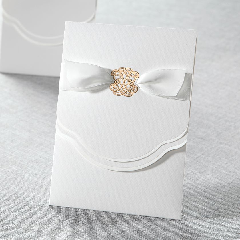 Urban Couture with a Bow - Wedding Invitations