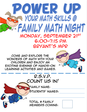 Flyer for family math night google search pinteres for Parent flyer templates