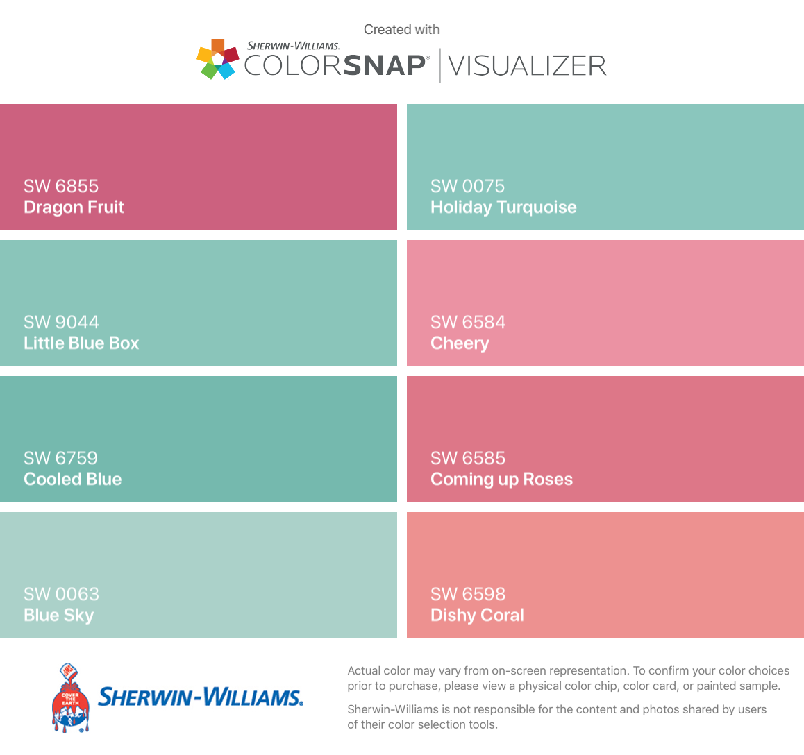 I found these colors with ColorSnap® Visualizer for iPhone by ...