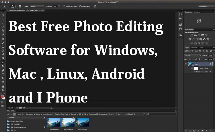 Best Free Photo Editing Software For Mac OSX, Windows and
