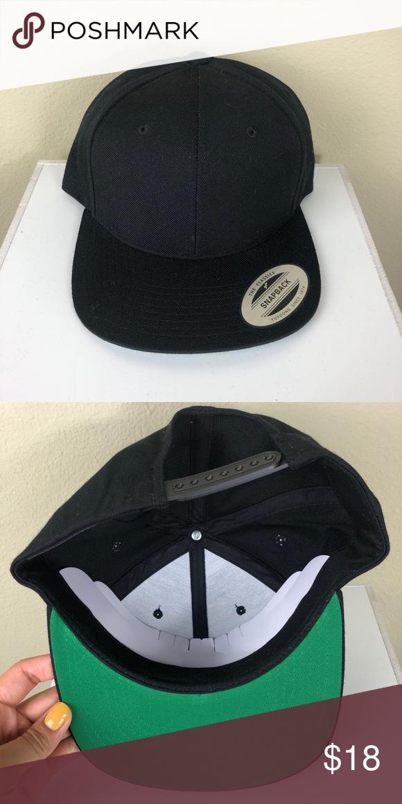 Lids Classic Blank Hat Brand Lids Classic Blank Black Nwt Hat Size Osfa Style Snapback Item Number Acc 032 Lids Accessories Hats Blank Hats Hats Hat Sizes