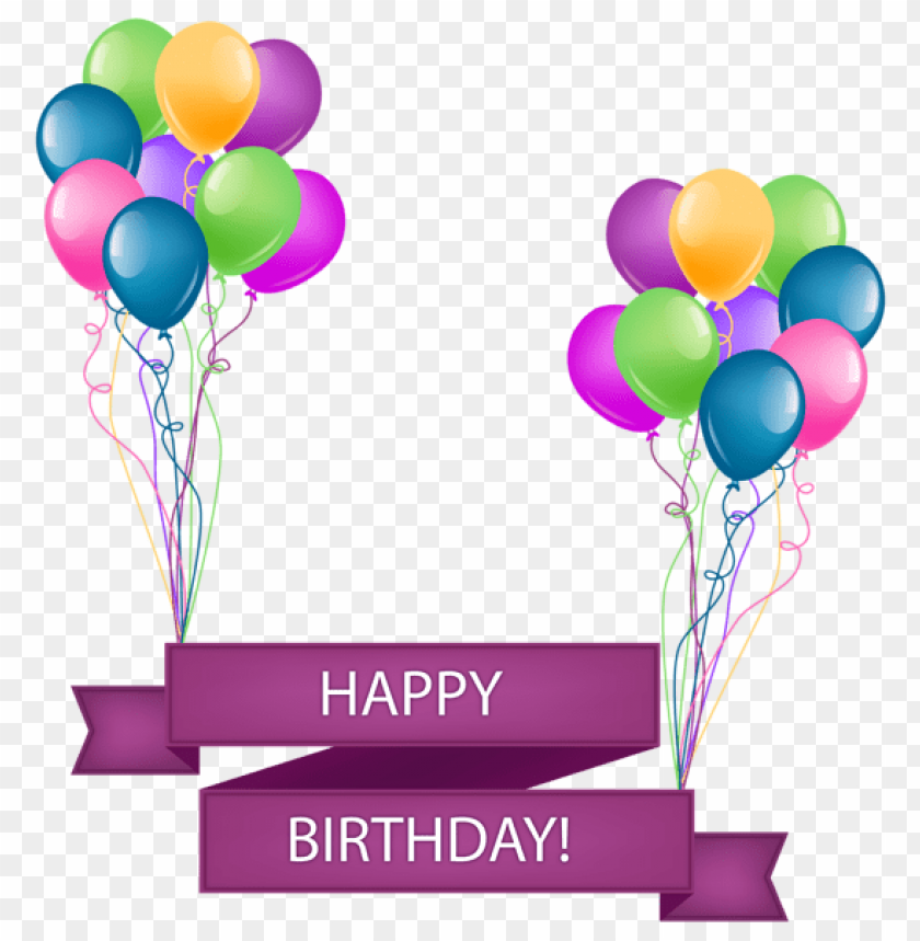 Free Png Download Happy Birthday Banner With Balloons Transparent Png Images Background Png In 2021 Happy Birthday Png Happy Birthday Frame Birthday Banner Background