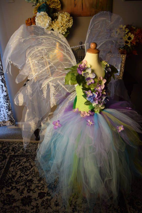 204a2671c68 Disfraz de hadas vestido de hadas de bosque flor de