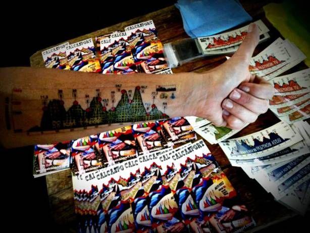 "calcasport ""tatuaje"" temporal con el recorrido de la carrera #trailrunning"