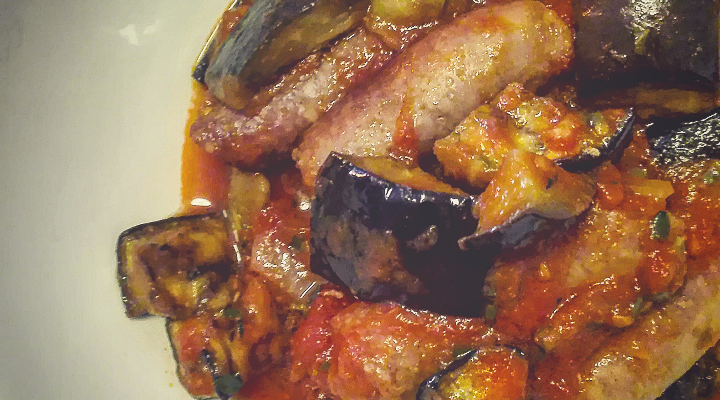 Photo of Stewed sausage with aubergines – Andre's taste