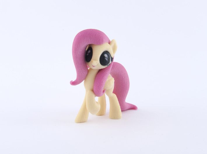 Fluttershy 3d printed