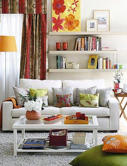 Living sala decoraci n espacio muebles colores - Decorar muebles blancos ...