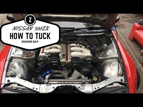 Nissan 300zx - Relocating Fuse Box , PTU and Steering Tank Vlog 30