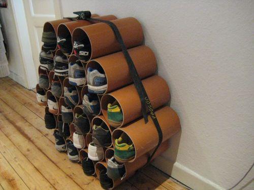 Schuhregal Bauen schuhregal aus rohren selbstgebaut nicht mir