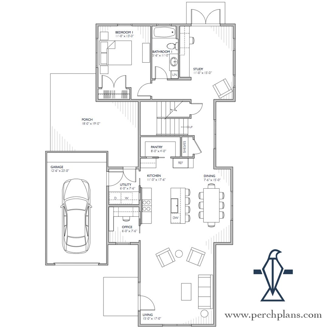 This Abigar Modern Farmhouse Floor Plan Designed By Perchplans Features 4 Bedrooms