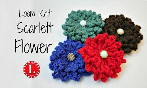 Loom Knit Flower Free Pattern With Video Tutorial Loom Knitting