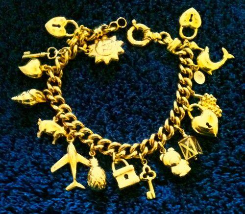 18k Fine Italian Gold Qvc Retired Charm Bracelet By Arte D Oro Www