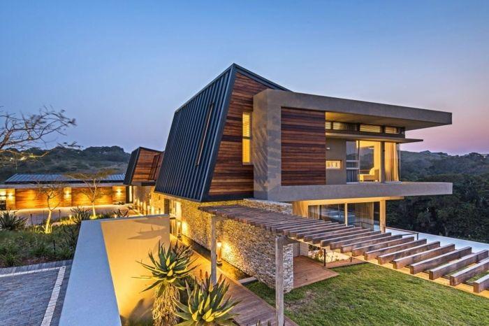 La maison contemporaine en design unique et prix for Prix piscine exterieure