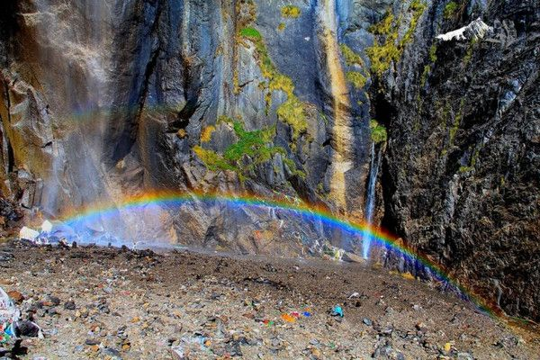 Holy Waterfall on the Meili Mountain, Yunnan
