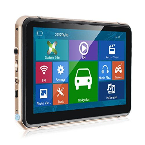 FREE Updates SAT NAV Car GPS Navigation,7 Inch Touch Screen 2019 World Maps