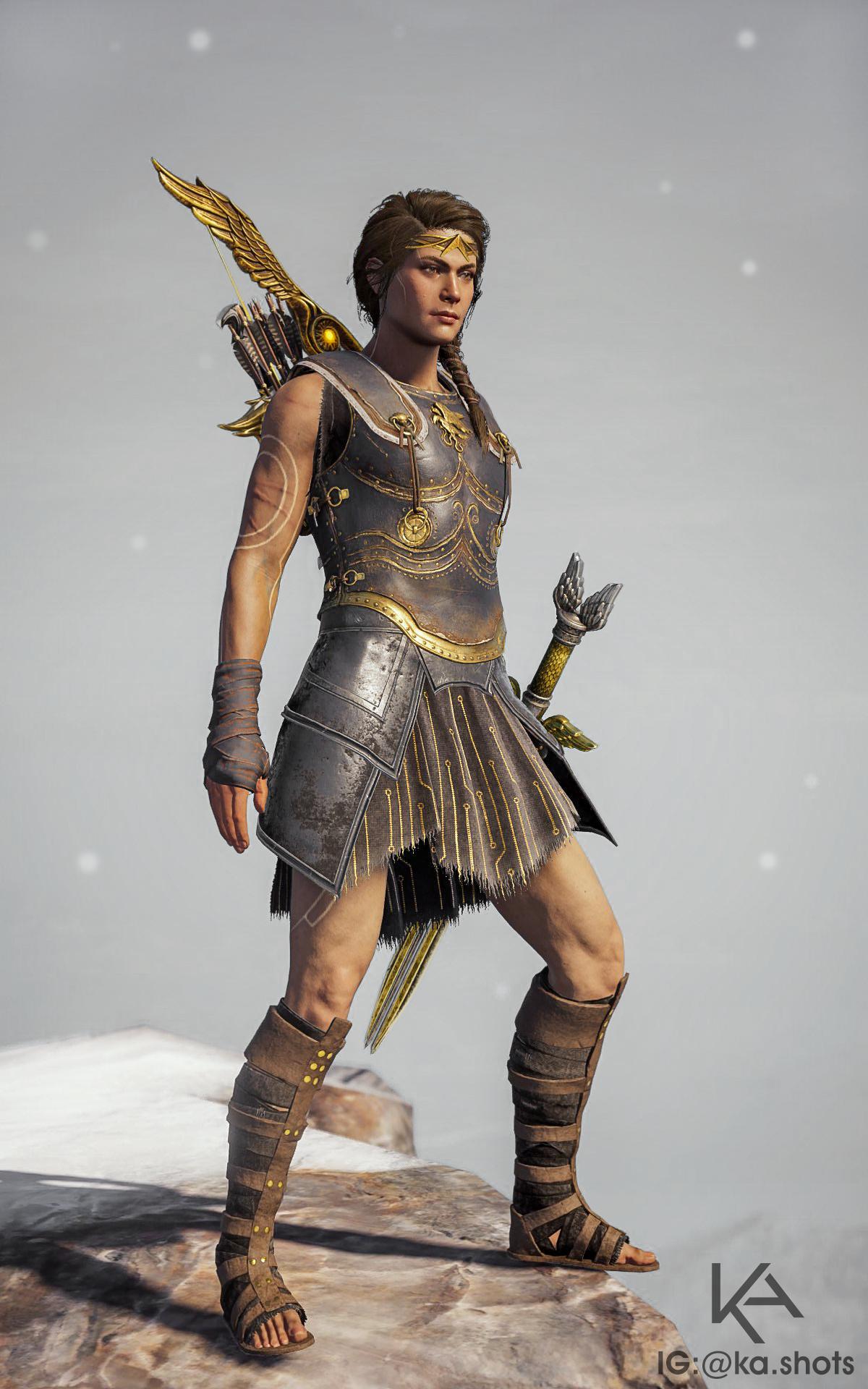 Assassin's Creed Odyssey Kassandra in mixed armor set
