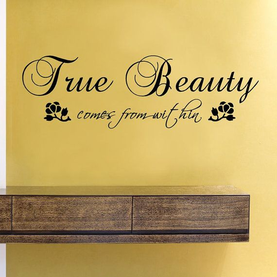 SlapArt True beauty comes from within Wall by VinylMasterpieces ...