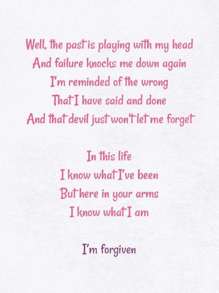 Forgiven lyrics