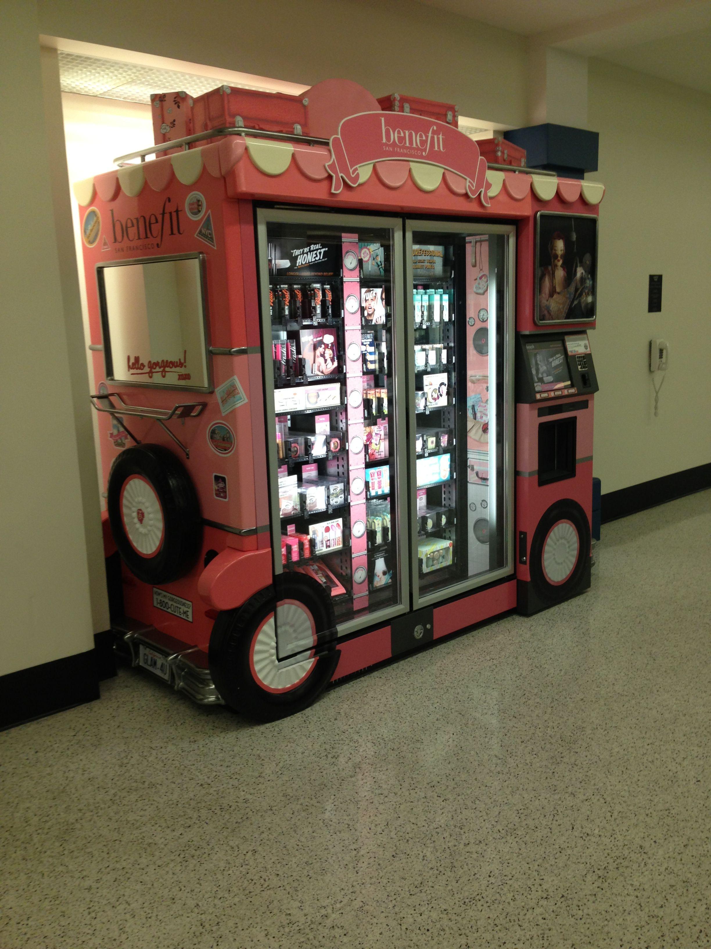 Benefit vending machine Cleveland airport. Last minute