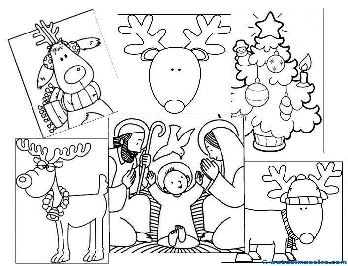 Dibujos de Navidad para colorear - Recursos educativos y material - navidad para colorear